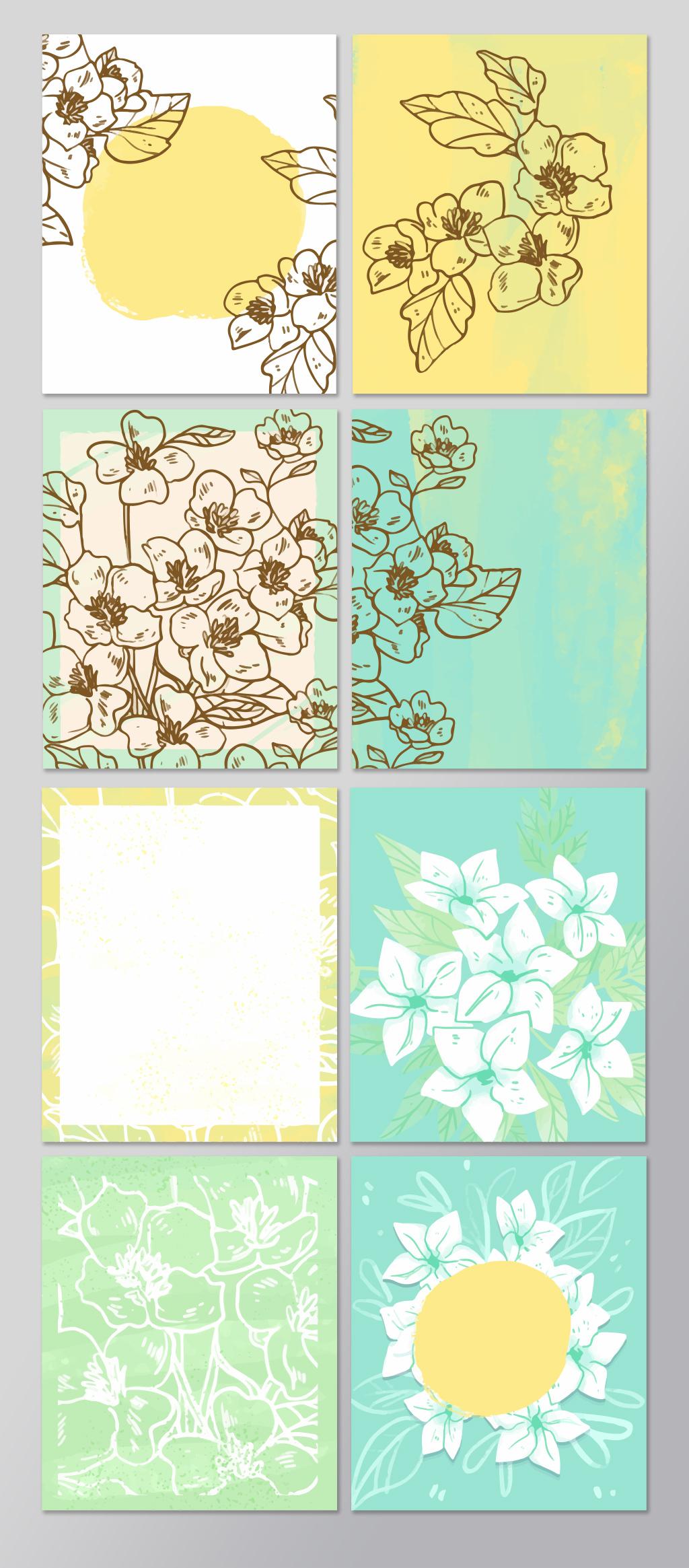 手绘线条矢量背景素材图片设计_高清ai模板下载(3.4)