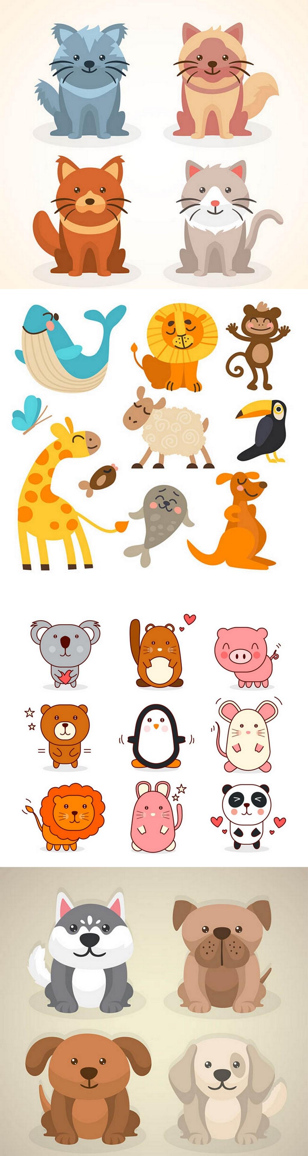 水彩手绘                                    动物