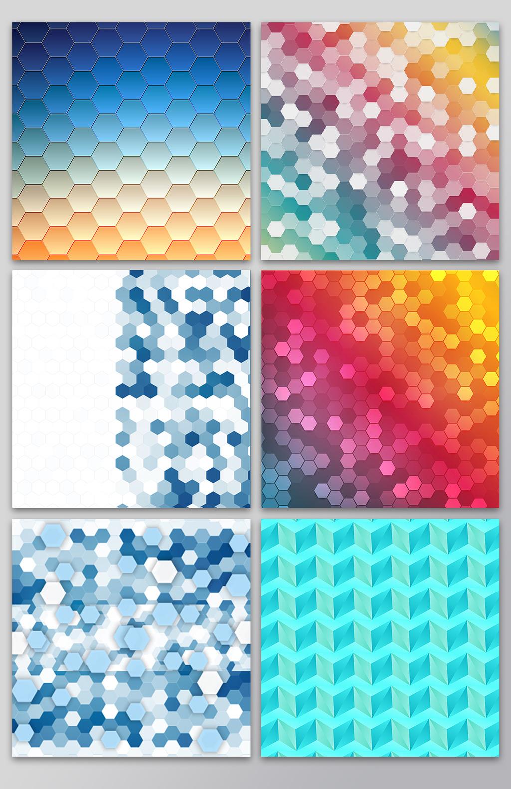 彩色马赛克背景矢量图图片设计素材 高清AI模板下载 5.06MB lzlovelw