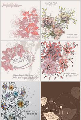 线描花卉图片素材 线描花卉图片素材下载 线描花卉背景素材 线描花卉模板下载 第1页图片
