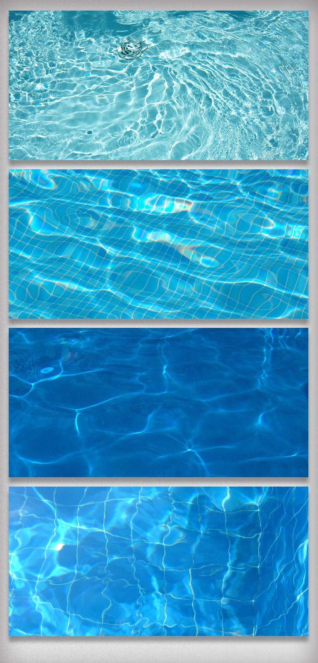 蓝色游泳池水纹理波纹涟漪图片素材