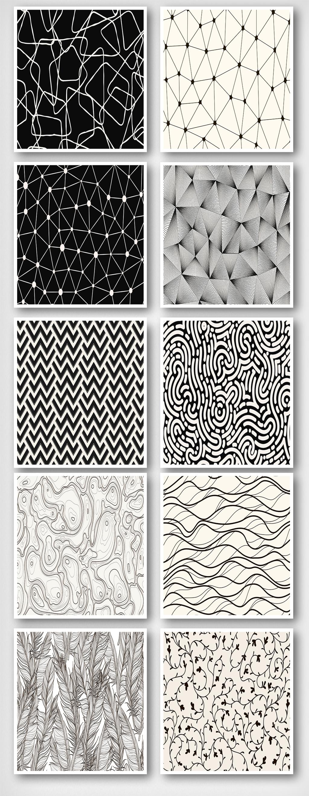黑白流线抽象背景线条底纹效果图平面设计图片素材()图片