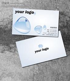 广告设计纯净水环保名片