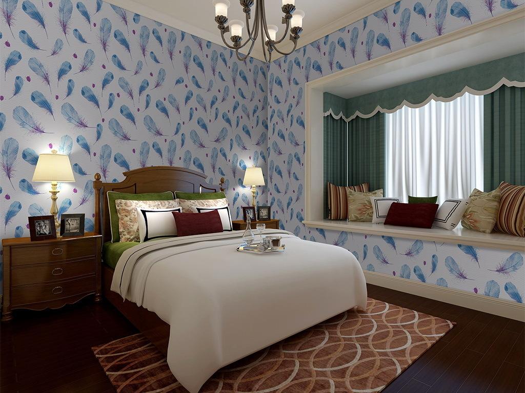 房间墙纸卧室图片 卧室只贴一面墙纸 现代简约卧室墙纸 久久图片视频